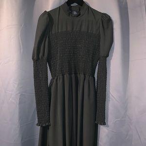 GENEVIEVE SHIRRED DRESS